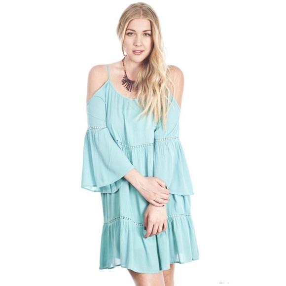 Dresses Plus Size Mint Offtheshoulder Peasant Dress Poshmark